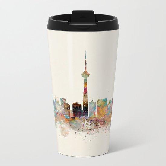 Toronto Ontario skyline Metal Travel Mug