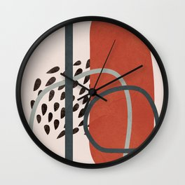 Abstract Elements 16 Wall Clock