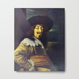 Portrait of an Officer by Frans Hals Metal Print