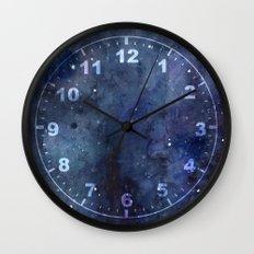 Night Sky Stars Galaxy | Watercolor Nebula Wall Clock