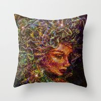 medusa Throw Pillows featuring Medusa.... by shiva camille