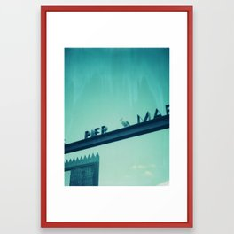 Pier Polaroid Framed Art Print