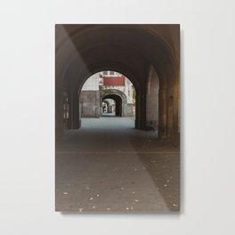 Town house arches in Subotica, Serbia // fall // autumn Metal Print