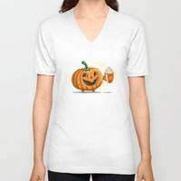 spice V-neck T-shirts featuring Spice Time by Spiritgreen