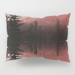 Sunset forest reflections Pillow Sham