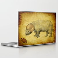 football Laptop & iPad Skins featuring Rhinocéros Football by Ganech joe