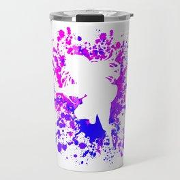 Anime Paint Splatter Inspired Shirt Travel Mug
