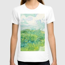 Green Wheat Fields - Auvers, by Vincent van Gogh T-shirt