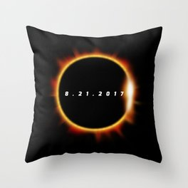 Total Solar Eclipse August 21 2017 Throw Pillow