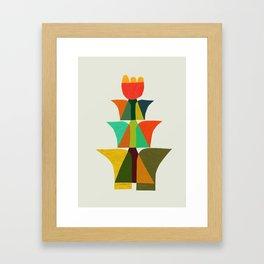 Whimsical bromeliad Framed Art Print