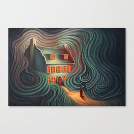 Wecome home, sweety Canvas Print