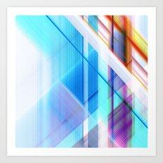 blue elevator Art Print