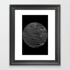 Min Wave Inverse Framed Art Print