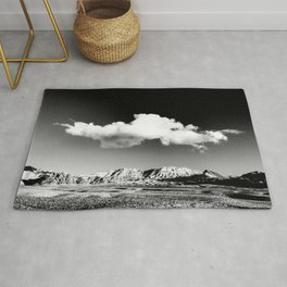 Black Sky Desert Landscape // Red Rock Canyon Las Vegas Nevada Mojave Mountain Range Rug