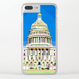 Capitol Building in Anomali WPAP Clear iPhone Case
