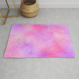 Boho abstract mandala in pink-purple colors Rug