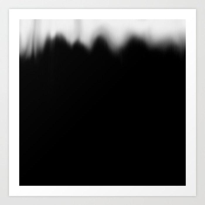 Black And White Paint Fading Art Print By Danielbndz Society6