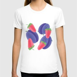 Plums and strawberry T-shirt