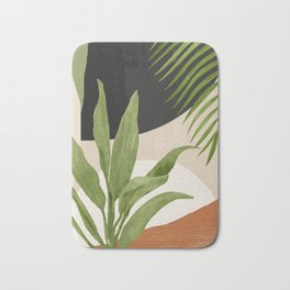 Abstract Art Tropical Leaf 11 Bath Mat