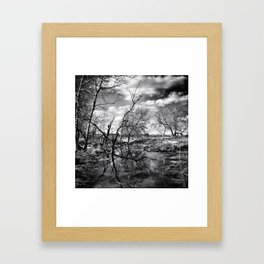 Dark Reflection Framed Art Print