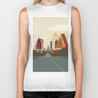 austin Biker Tanks featuring Austin Skyline by Kurtis Beavers