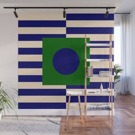 GEOMETRY BLUE&GREEN V Wall Mural