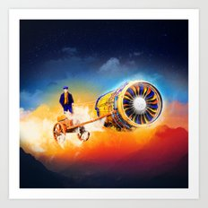 Flyer Engine Art Print