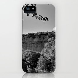 rock cliff at lim channel fjord istria croatia europe black white iPhone Case