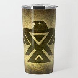 Symbol of the Anishinaabe, Ojibwe (Chippewa) on  parchment Travel Mug