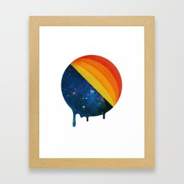 049 Cosmic retro ice cream roll melting Framed Art Print