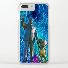 Walt & Mickey - Partners in Imagination Clear iPhone Case