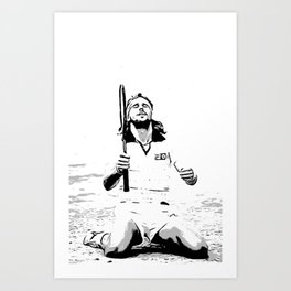 Borg Wins Wimbledon for 5th straight time Art Print