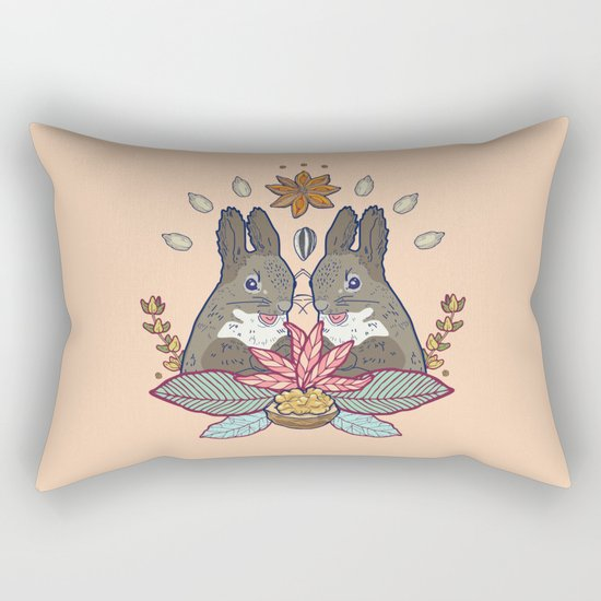 squirrel love Rectangular Pillow