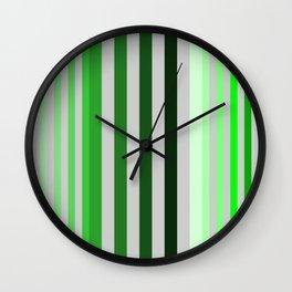 green and grey pattern Wall Clock