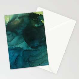 Teal in motion Stationery Cards