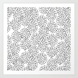 Dotted Spirals Art Print