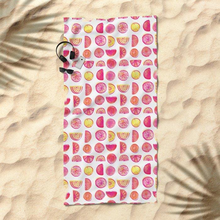 Fresh Citrus Beach Towel