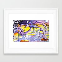 lsd Framed Art Prints featuring LSD by Julie Roth Illustration