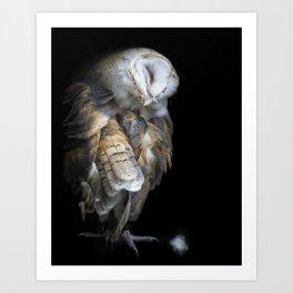 Pulling Feathers Art Print