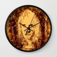 kurt cobain Wall Clocks featuring 27 Club - Cobain by MUSENYO