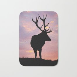 Stag And Sunset Bath Mat