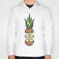 pineapple Hoodies featuring Pineapple by Jan Luzar