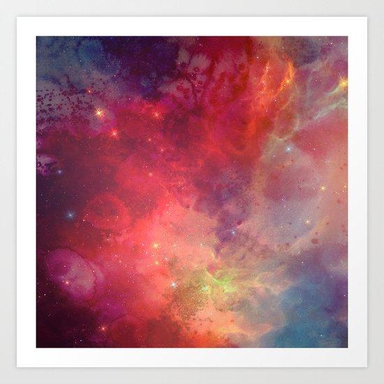 Watercolor space #4 Art Print