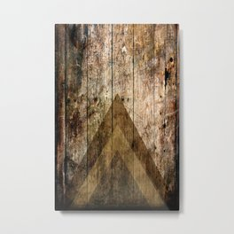 Wood and Triangles Metal Print