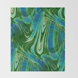 Tropical Colors Abstract Throw Blanket