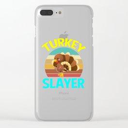 Retro Turkey slayer Turkey Hunting Gifts Clear iPhone Case