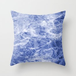 Deep blue sea marble texutre Throw Pillow