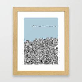 Leaving the City Framed Art Print