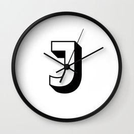 Letter J ... As Easy As ... Wall Clock