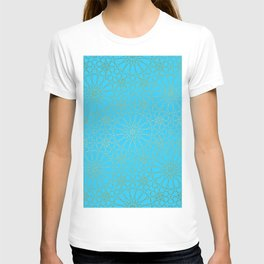Moroccan Nights - Gold Teal Mandala Pattern - Mix & Match with Simplicity of Life T-shirt